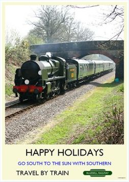 Heritage Rail Poster - Happy Holidays - Bluebell Railway