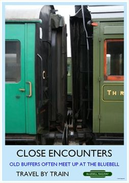Heritage Rail Poster - Close Encounters - Bluebell Railway