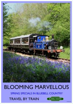 Heritage Rail Poster - Blooming Marvellous - Bluebell Railway