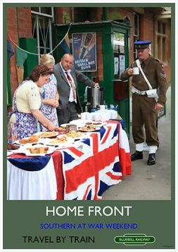 Heritage Rail Poster - Home Front - Bluebell Railway