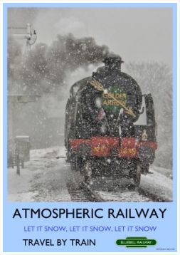 Heritage Rail Poster - Atmospheric Railway - Bluebell Railway
