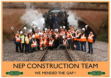 Heritage Rail Poster - NEP Construction Team - Bluebell Railway