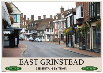 Heritage Rail Poster - East Grinstead - Bluebell Railway