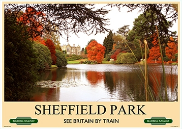 Heritage Rail Poster - Sheffield Park - Bluebell Railway