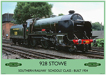 Heritage Rail Poster - 928 Stowe - Bluebell Railway