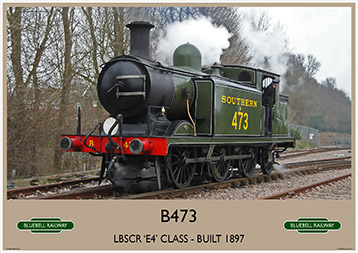 Heritage Rail Poster - B473 Birch Grove - Bluebell Railway