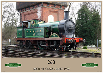Heritage Rail Poster - 263 'H' Class - Bluebell Railway