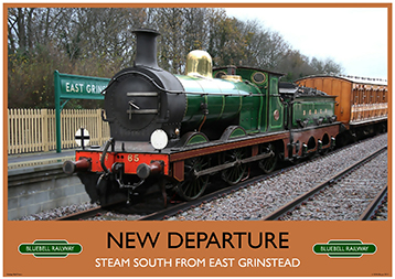 Heritage Rail Poster - New Departure - Bluebell Railway