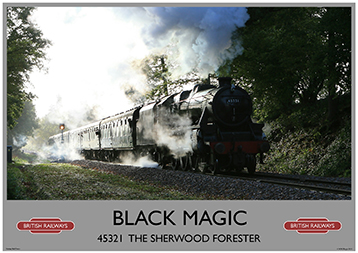 Heritage Rail Poster - Black Magic - Bluebell Railway