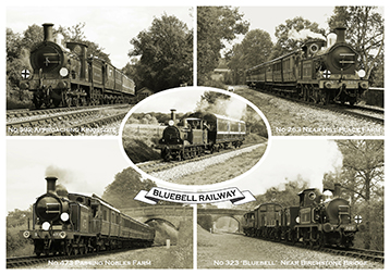 Heritage Rail Poster - Victorian Postcard - Bluebell Railway