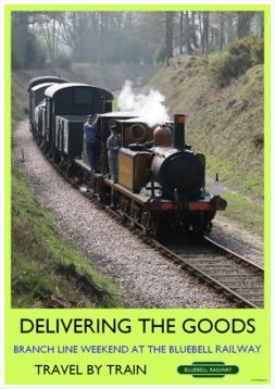 Heritage Rail Poster - Delivering the Goods - Bluebell Railway
